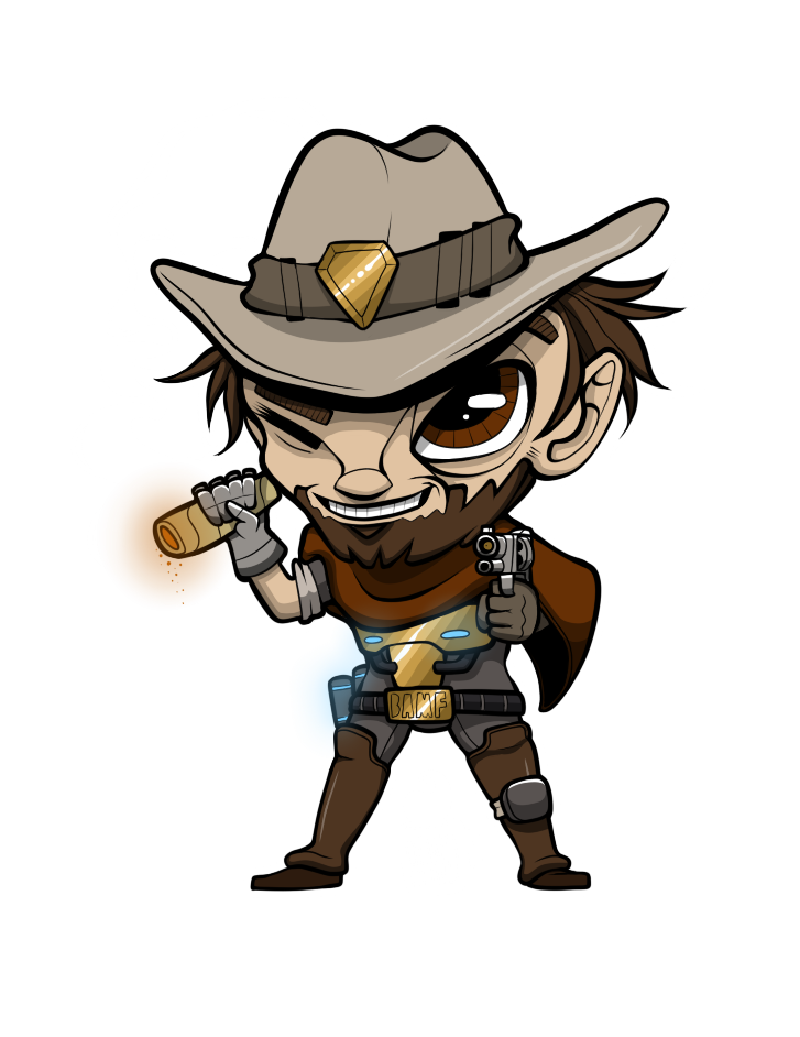 Mccree overwatch png. By randogw on newgrounds