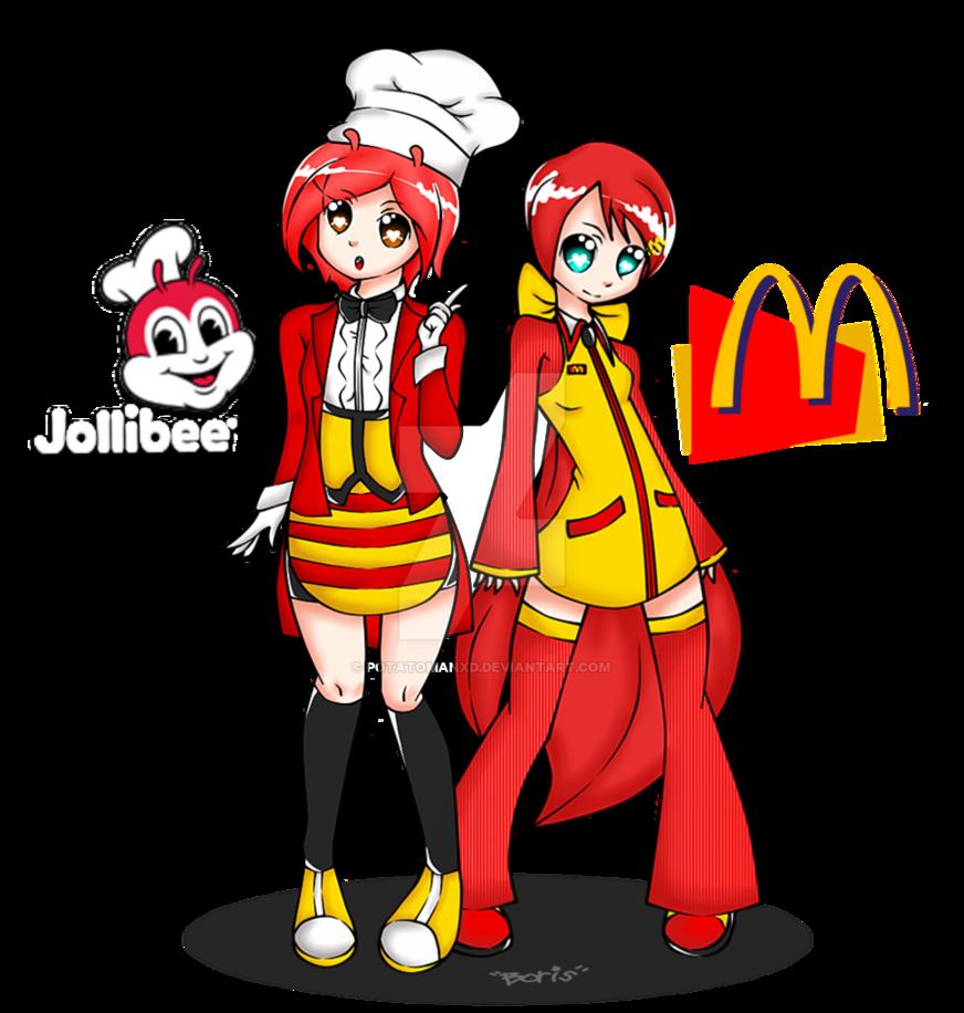 Jollibee meets mcdonald by. Mcdonalds clipart character
