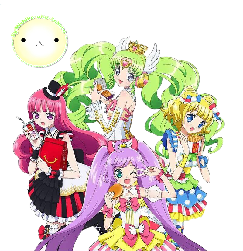 Render pripara with by. Mcdonalds clipart character