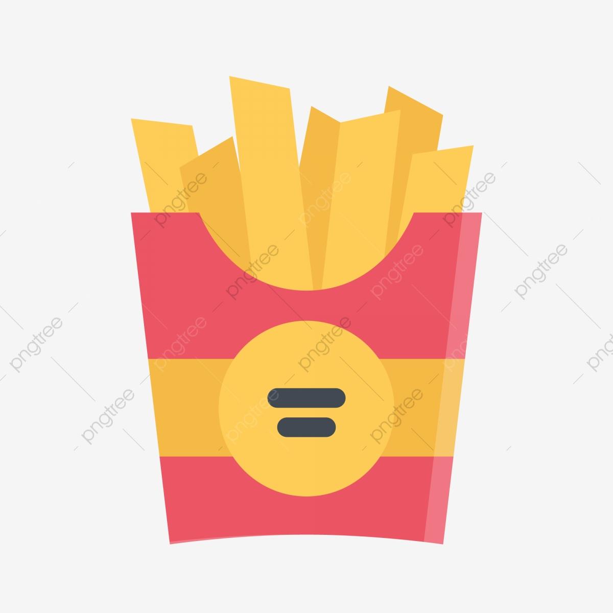 French fries potato food. Mcdonalds clipart icon
