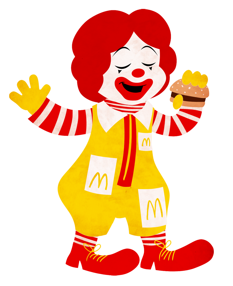 Ronald mcdonald fun favourites. People clipart cut out