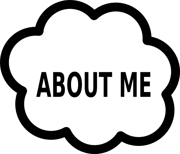 About me cloud clip. R clipart word
