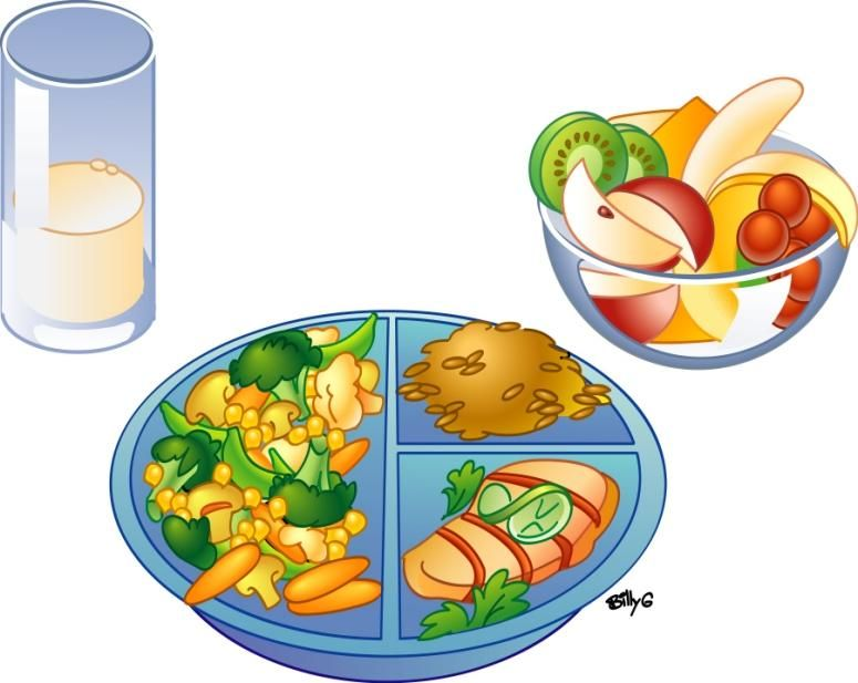 Healthy lunch food cartoon. Lunchbox clipart nutritious meal