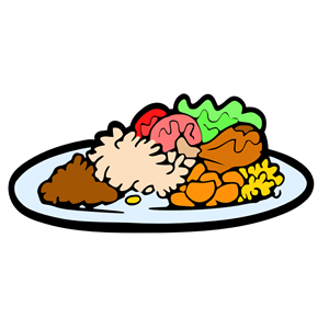 Dinner clipart chicken dish. Meal plate cliparts of