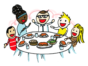 Meals united way of. Meal clipart family style dining