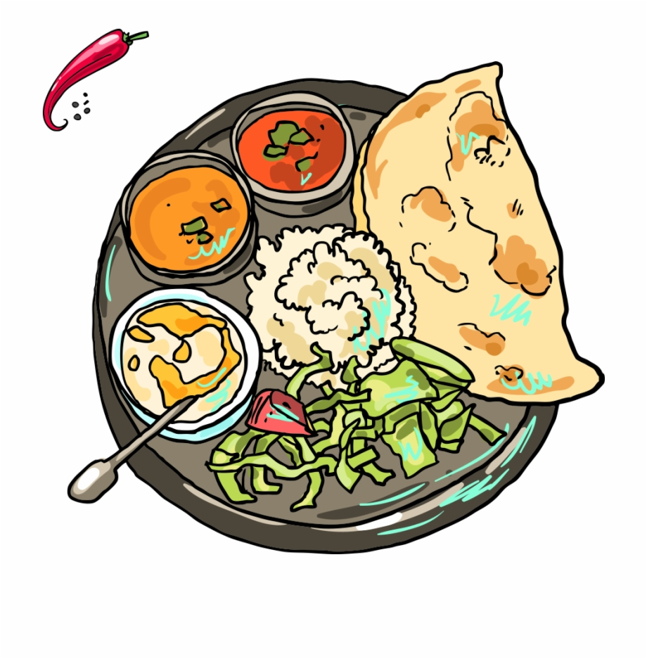 Meal clipart food india. Indian cuisine pakora samosa