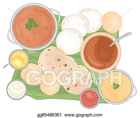 Meal clipart food india. Vector art traditional drawing