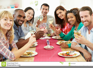 Dinner free images at. Meal clipart group lunch