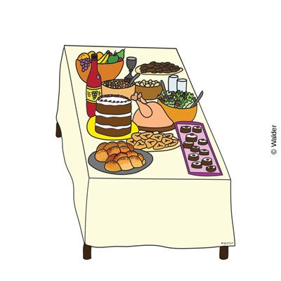 Seudah walder education . Purim clipart meal