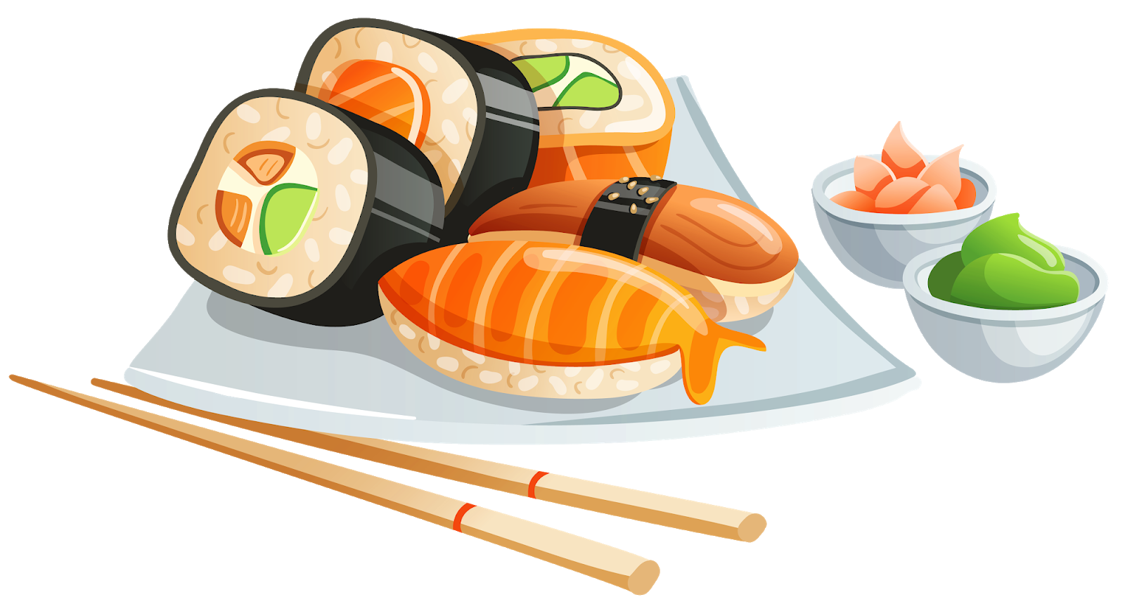 Menu t sushi in. Tuna clipart shrimp