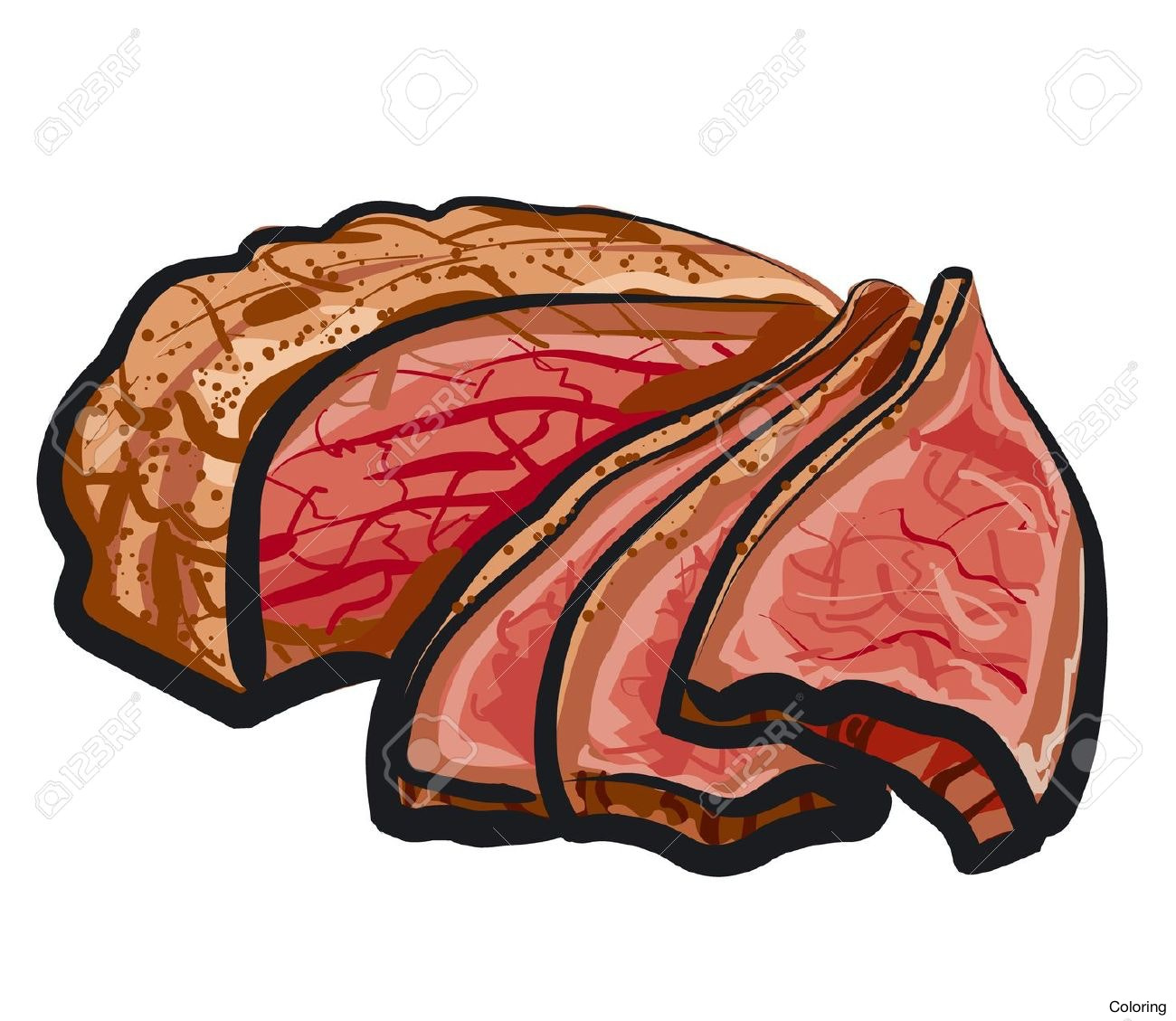 collection of beef. Meat clipart