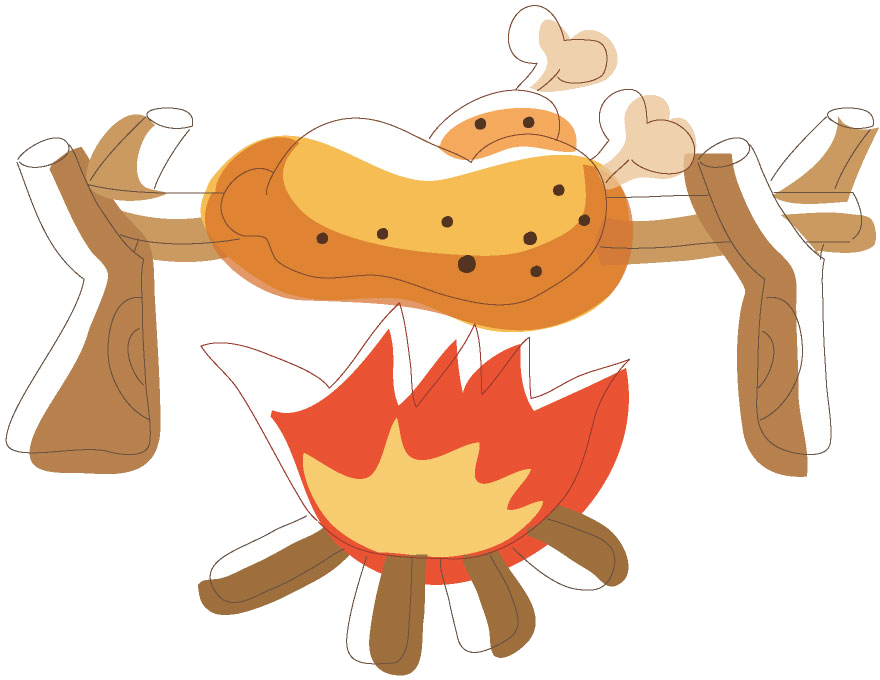 Fire grill transprent png. Meat clipart barbecue chicken