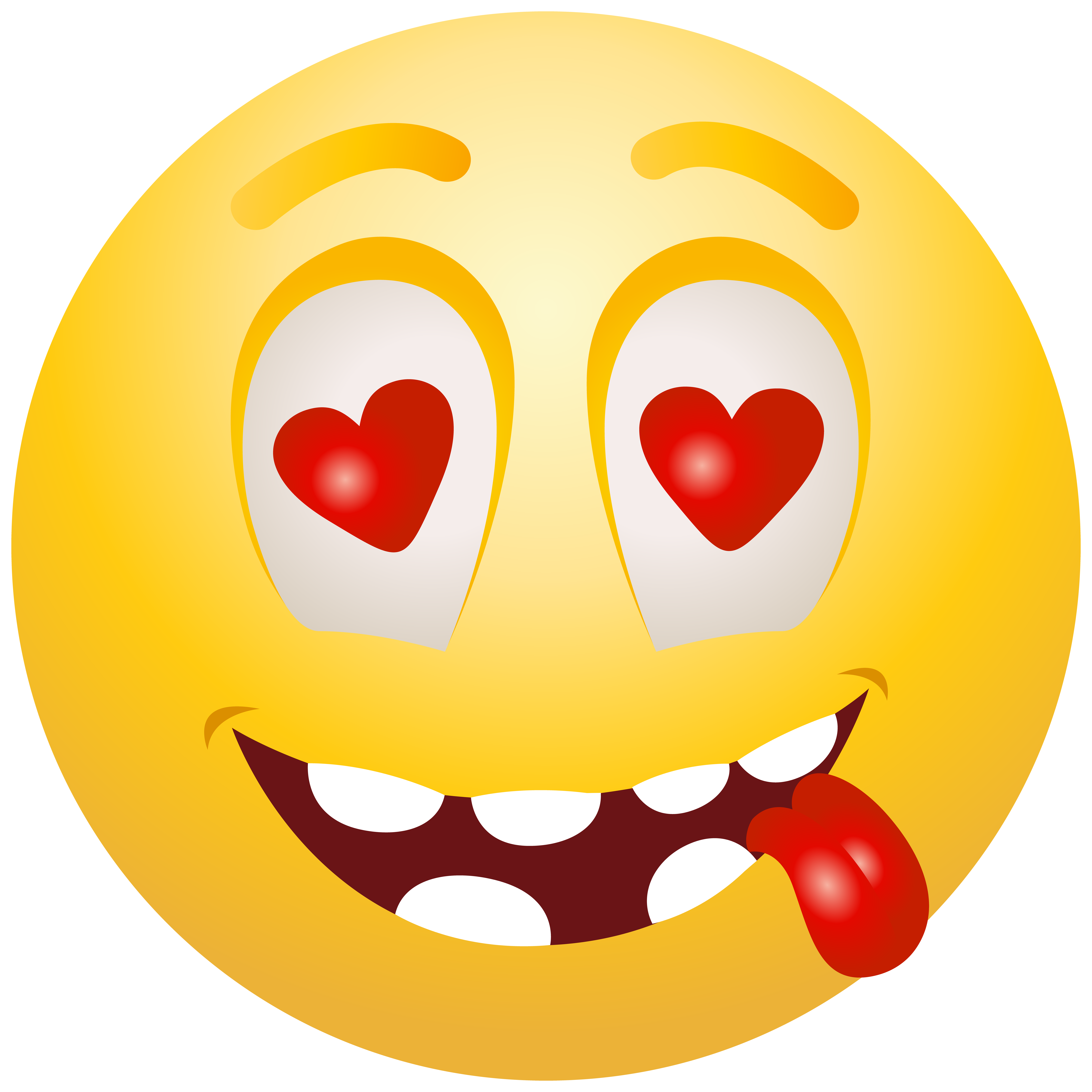 Planets clipart smiley. In love emoticon png