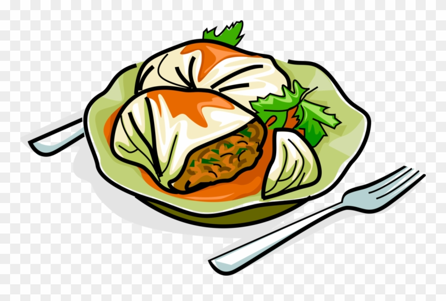 Cartoon cabbage roll png. Meat clipart non veg food