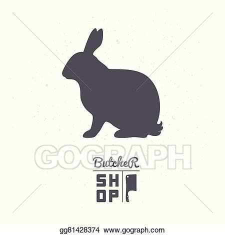 Meat clipart rabbit meat. Eps illustration hare silhouette