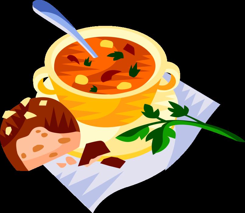 Hungarian vector image illustration. Soup clipart goulash