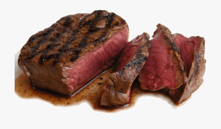 Cooked medium rare fillet. Meat clipart well done steak
