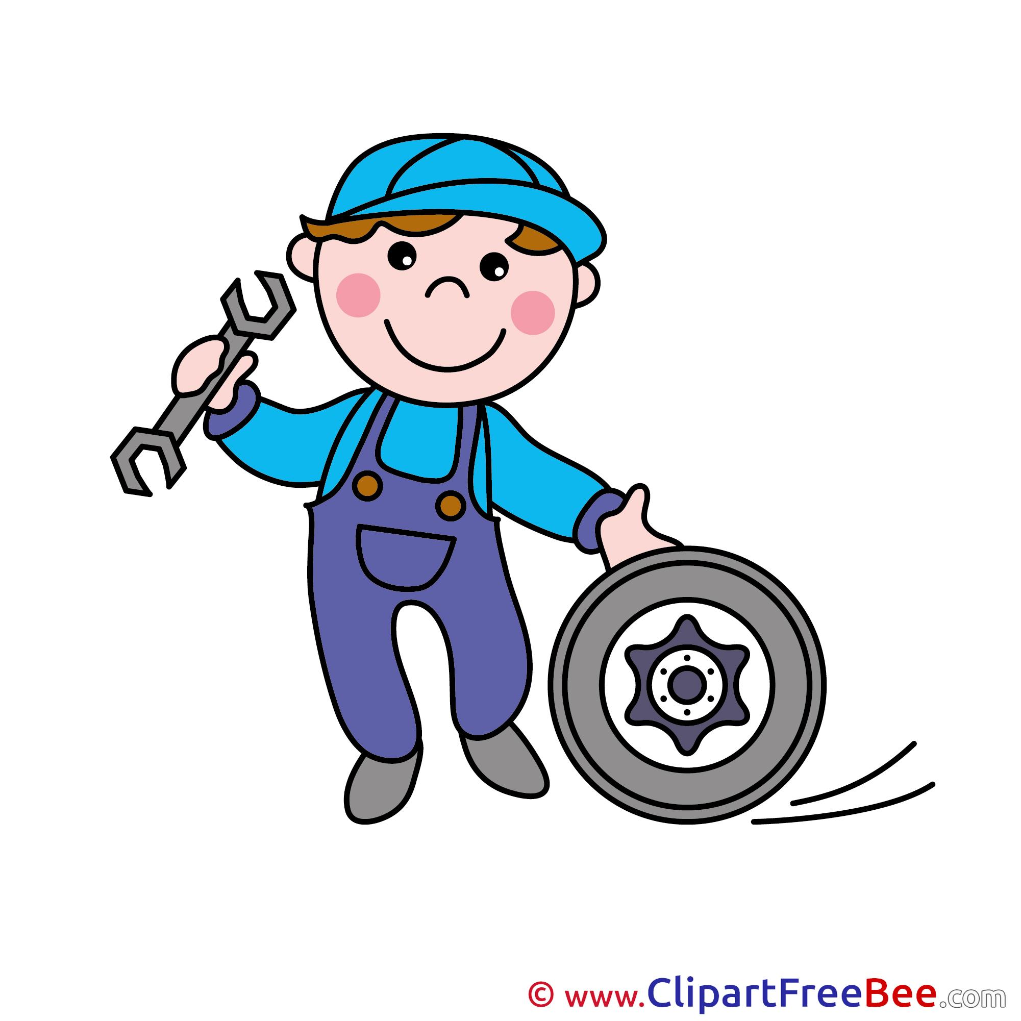 Mechanic clipart. Free illustrations