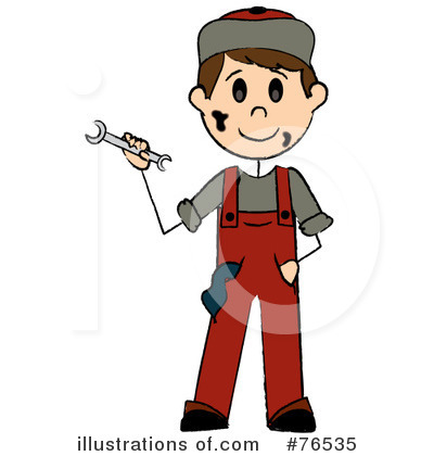 Mechanic clipart. Illustration by pams royaltyfree