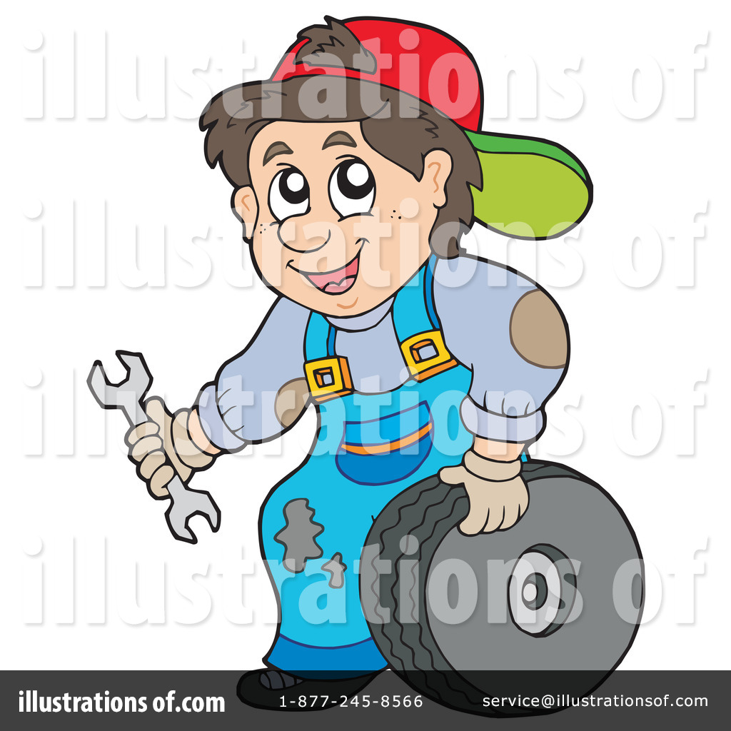 Illustration by visekart royaltyfree. Mechanic clipart