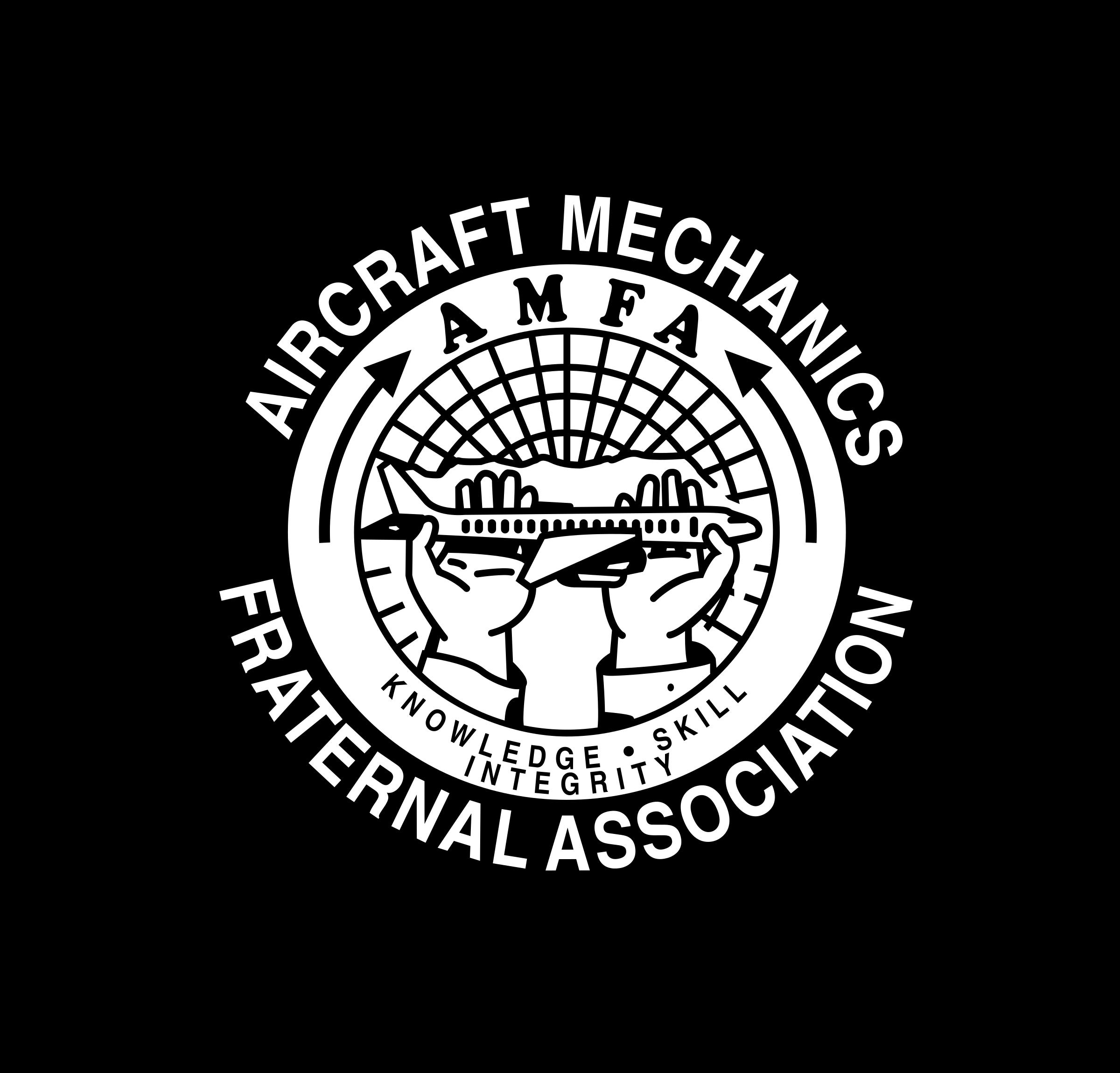 Mechanic clipart airplane. Aircraft mechanics fa logo