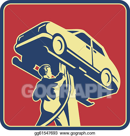 Vector stock technician car. Mechanic clipart auto tech