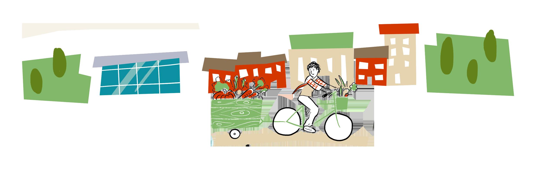 Bike hub sustainability service. Shop clipart shop background
