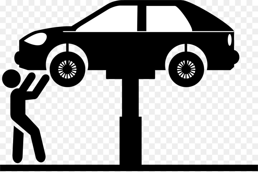 Mechanic clipart car care. Auto png black and
