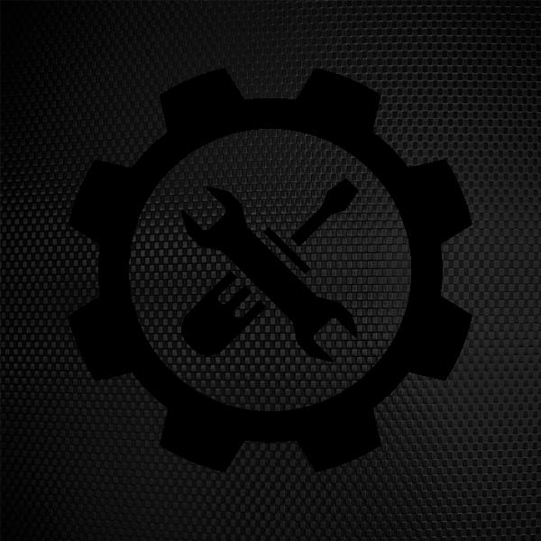 Mechanic clipart engineering symbol. Simple color vinyl stickers