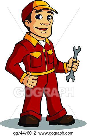 Eps vector man stock. Mechanic clipart female job