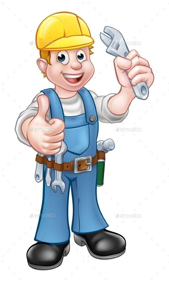 Pin on industry vectors. Mechanic clipart handyman