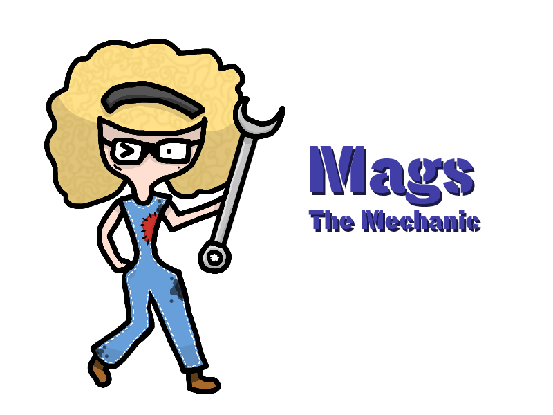 Mechanic clipart happy customer. Mags the by funnystufburrito