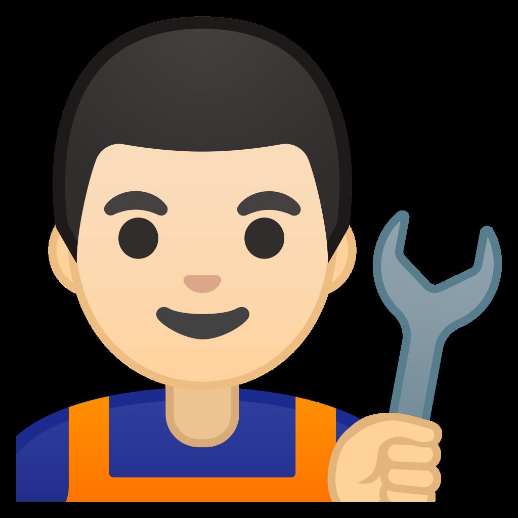 mechanic clipart happy work