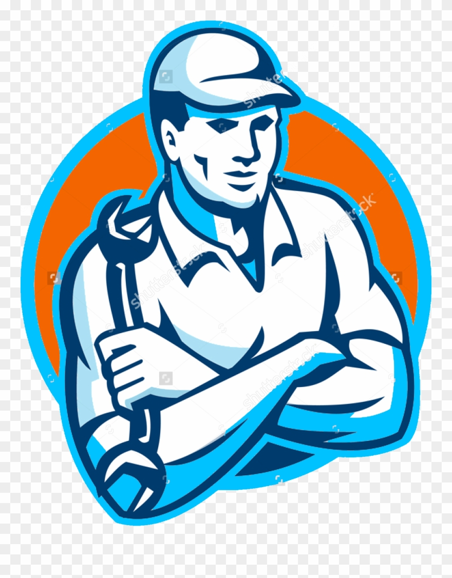 Crossed wrench pinclipart . Mechanic clipart logo