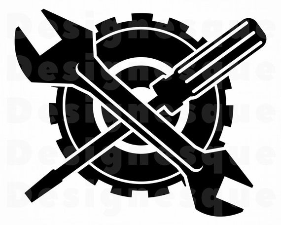 Svg repair files for. Mechanic clipart logo