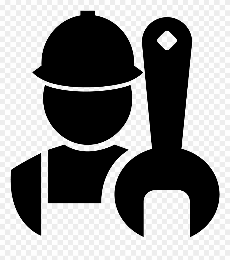 Png black and white. Mechanic clipart maintenance supervisor