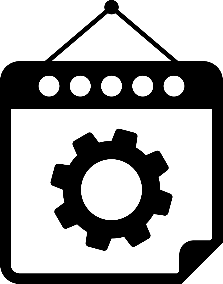 Mechanic clipart many gear. On hanging calendar page