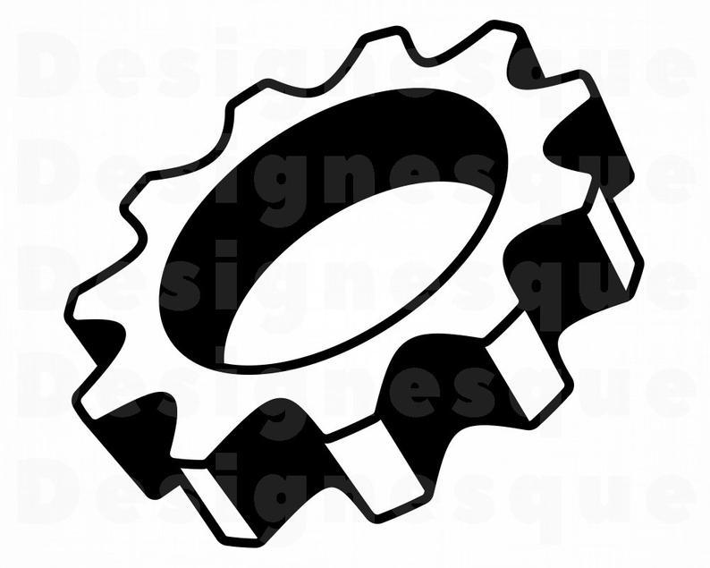 Svg cogwheel files for. Mechanic clipart many gear