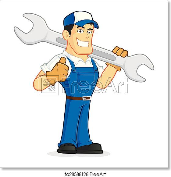 Mechanic clipart mecanic. Free art print of