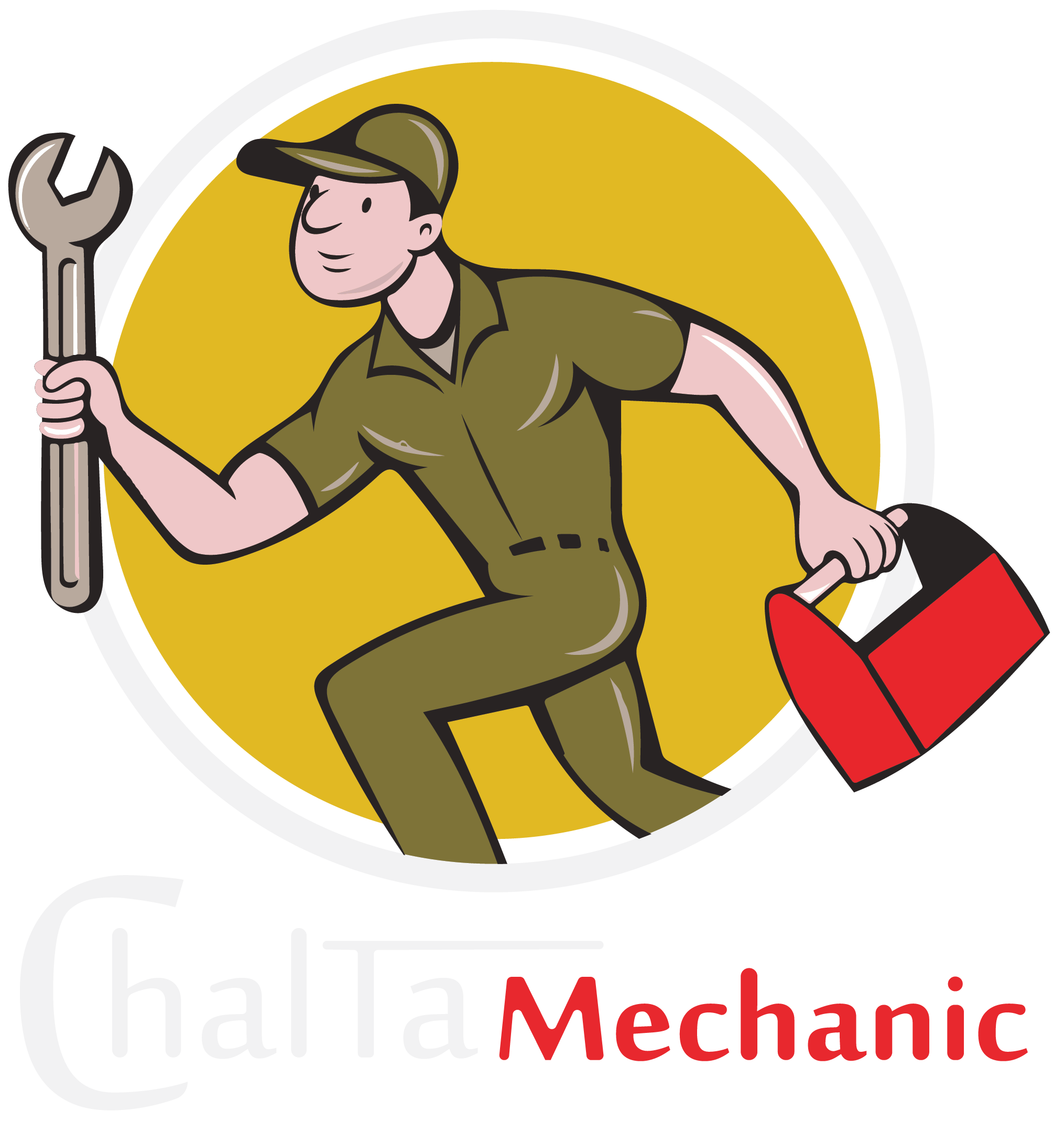 Mechanic clipart mechanical work. Chalta car and bike