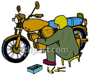Mechanic clipart skilled. Motorcycle royalty free picture