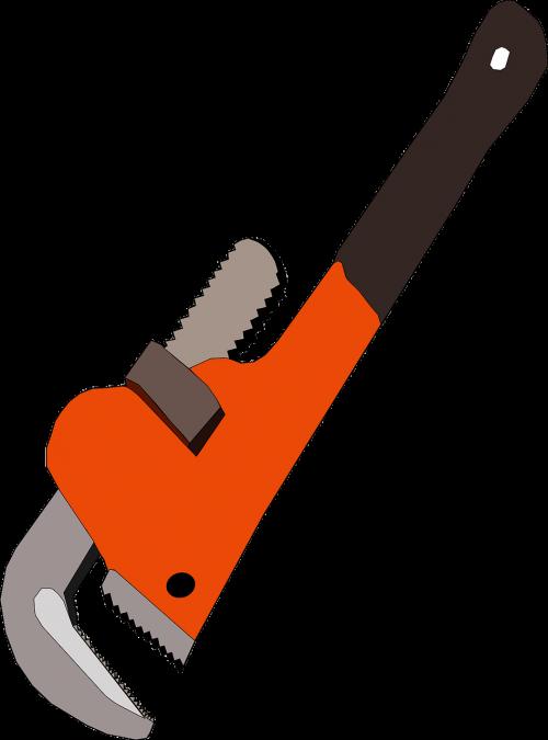 Spanner tool repair industry. Mechanic clipart socket wrench