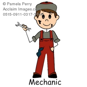 Mechanic clipart stick figure. Clip art illustration of