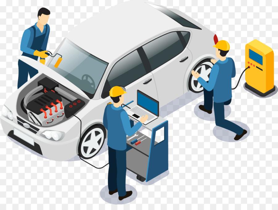 Car cartoon technology transparent. Mechanic clipart vehicle repair