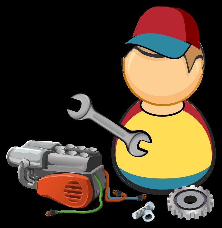 Mechanic clipart working. Car automotive medium image