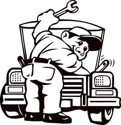 Free truck repair cliparts. Mechanic clipart working