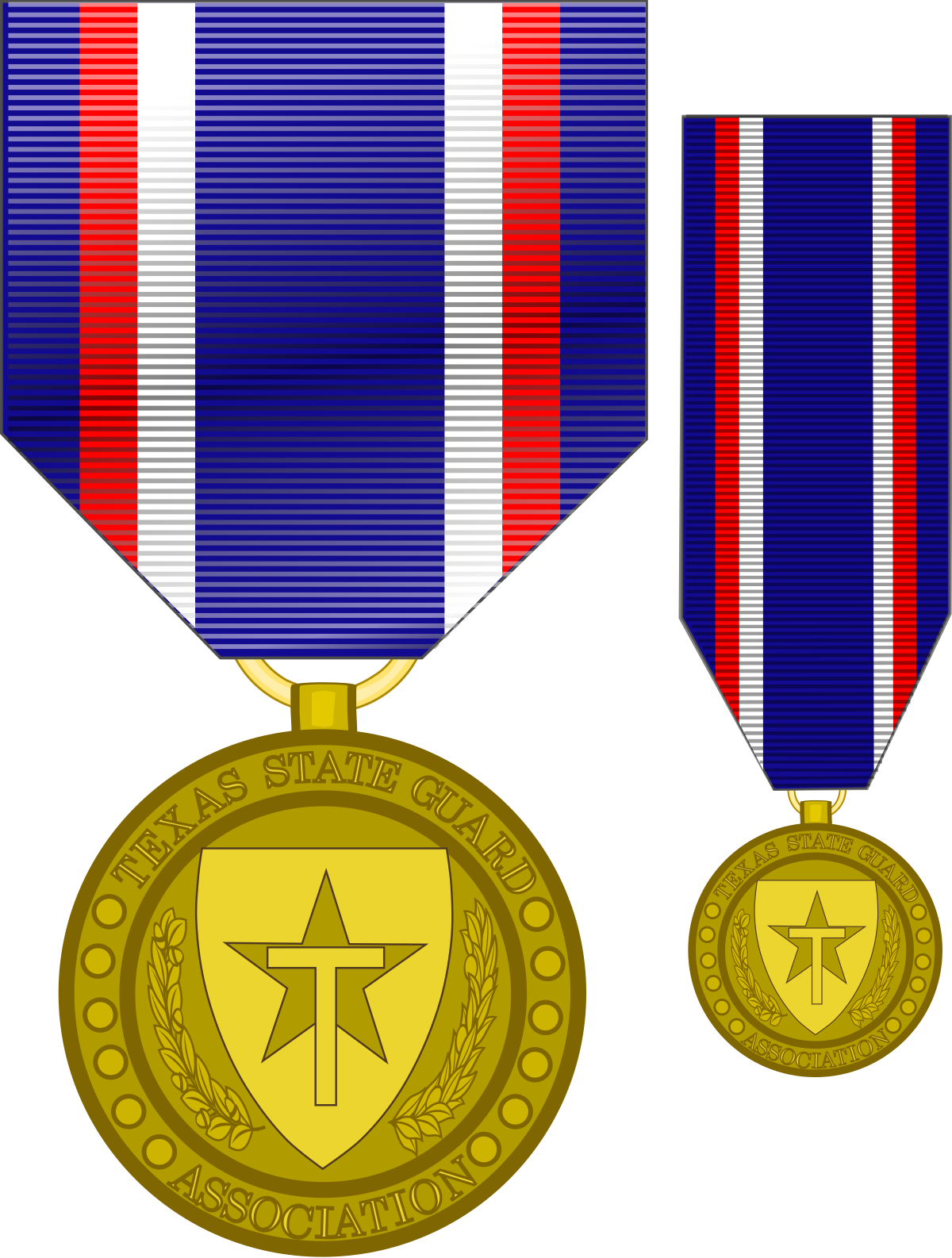Former texas state guard. Purple clipart medal