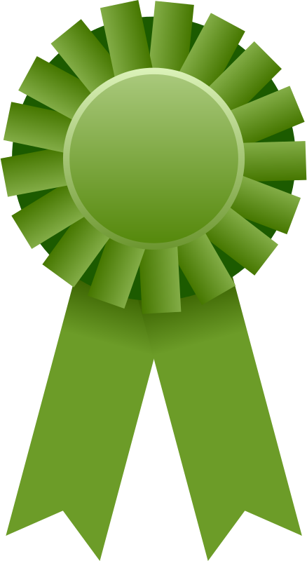 Great award ribbon frames. Number 1 clipart green