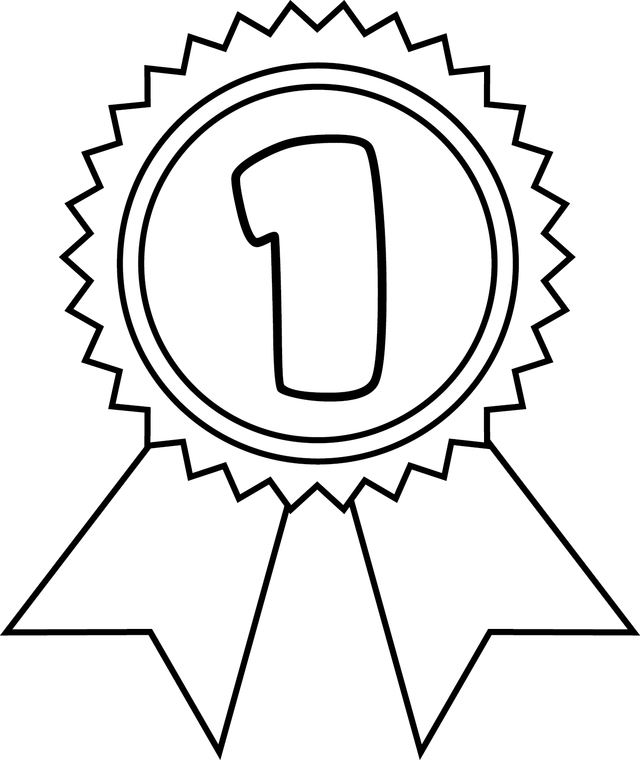 Medal drawing at getdrawings. Number 1 clipart ribbon