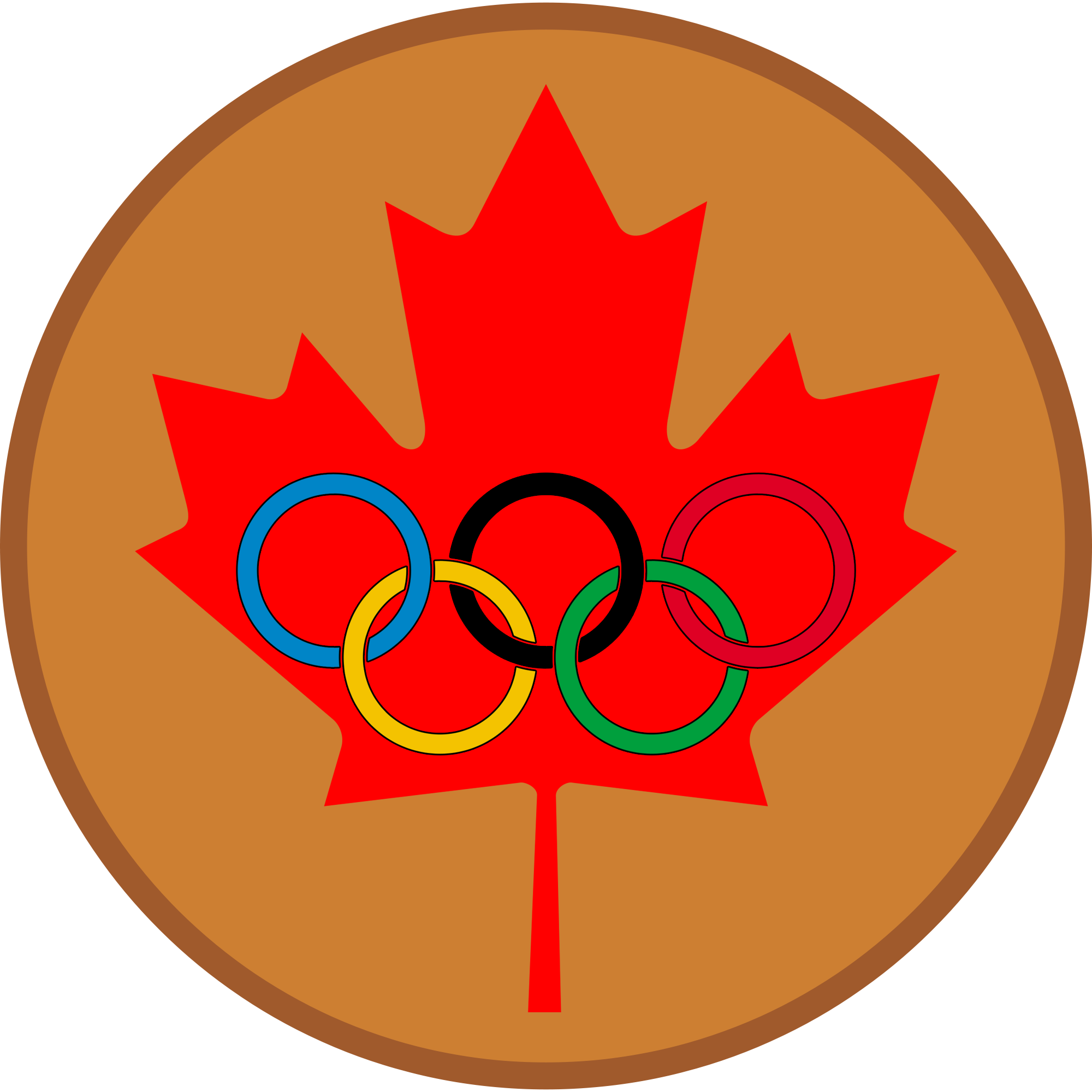 Medal clipart bronze. File maple leaf olympic